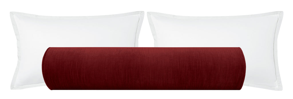The Bolster :: Strie Velvet // Currant