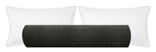 The Bolster :: Strie Velvet // Graphite