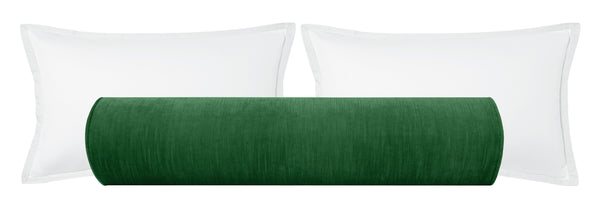 The Bolster :: Strie Velvet // Malachite