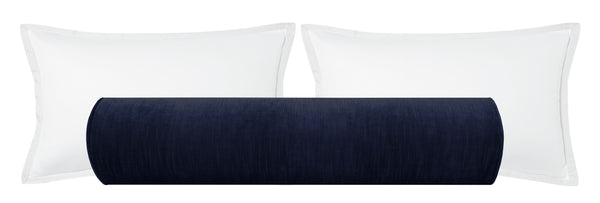 The Bolster :: Strie Velvet // Navy Blue BACKORDER