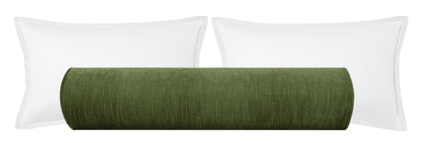 The Bolster :: Strie Velvet // Olive