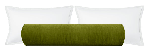 The Bolster :: Strie Velvet // Peridot