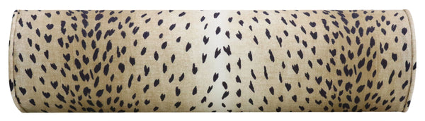 The Little Bolster :: Antelope Linen Print // Ebony