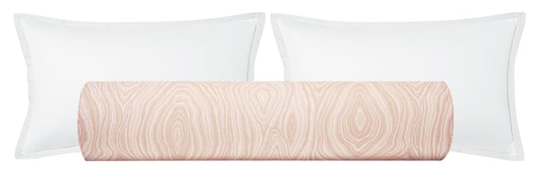 The Bolster :: Agate Linen Print // Blush