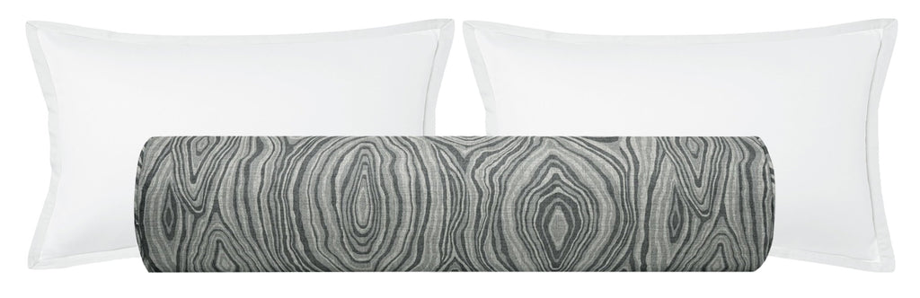 The Bolster :: Agate Linen Print // Graphite
