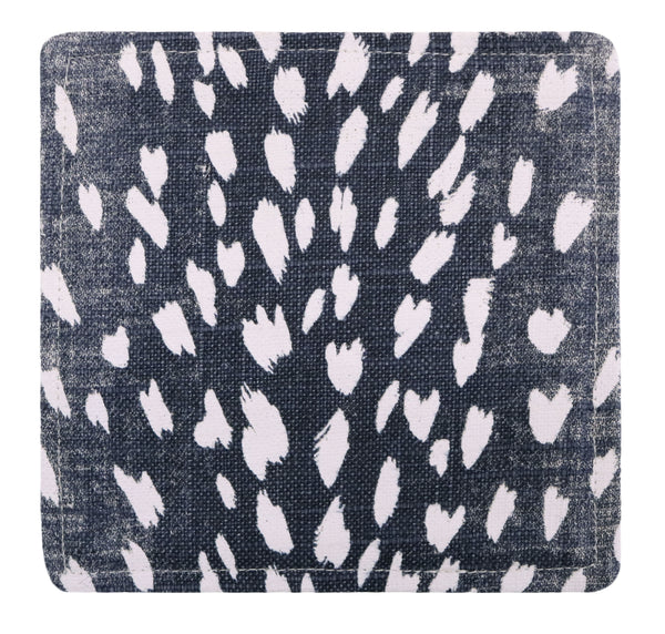 Cocktail Napkins :: Antelope Linen Print // Navy Blue