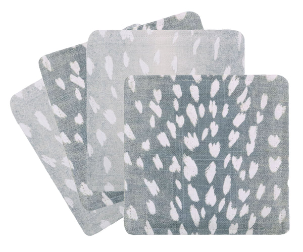 Cocktail Napkins :: Antelope Linen Print // Spa Blue