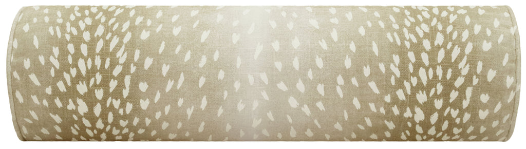 The Little Bolster :: Antelope Linen Print // Natural