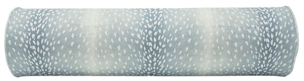 The Bolster :: Antelope Linen Print // Spa Blue