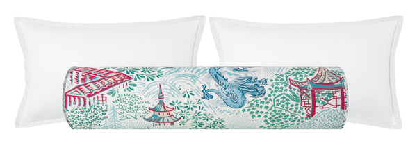 The Bolster :: Pagoda Linen Print // Sky Blue BACKORDER