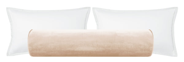 The Bolster :: Faux Silk Velvet // Cameo