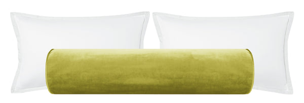 The Bolster :: Faux Silk Velvet // Chartreuse