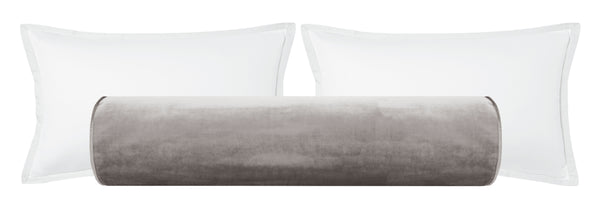 The Bolster :: Faux Silk Velvet // Chrome