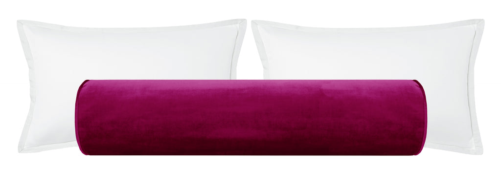 The Bolster :: Faux Silk Velvet // Magenta