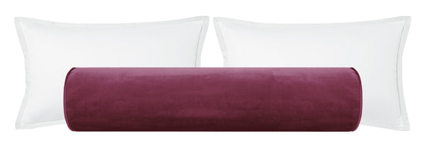 The Bolster :: Faux Silk Velvet // Plum