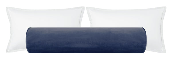 The Bolster :: Faux Silk Velvet // Prussian Blue