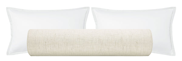 The Bolster :: Metallic Linen // Cashmere