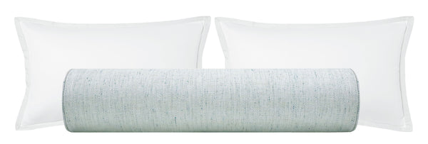 The Bolster :: Metallic Linen // Spa Blue