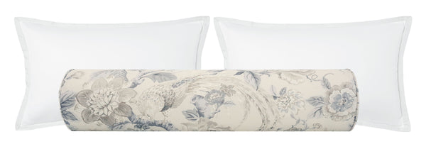 The Bolster :: Floral Aviary Print // Delft