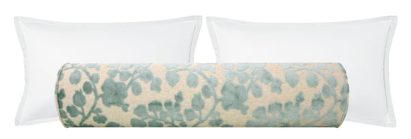 The Bolster :: Blossom Cut Velvet // Spa Blue BACKORDER