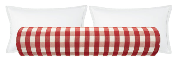 The Bolster : Charleston Check // Apple Red