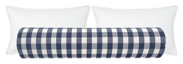 Charleston Check // Navy Blue Bolster