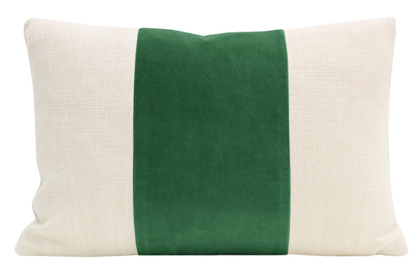 The Little Lumbar :: PANEL Classic Velvet // Malachite