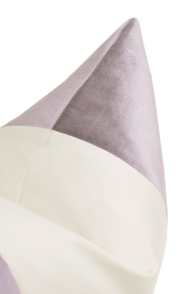The Little Lumbar :: COLORBLOCK Faux Silk Velvet // Smokey Lavender