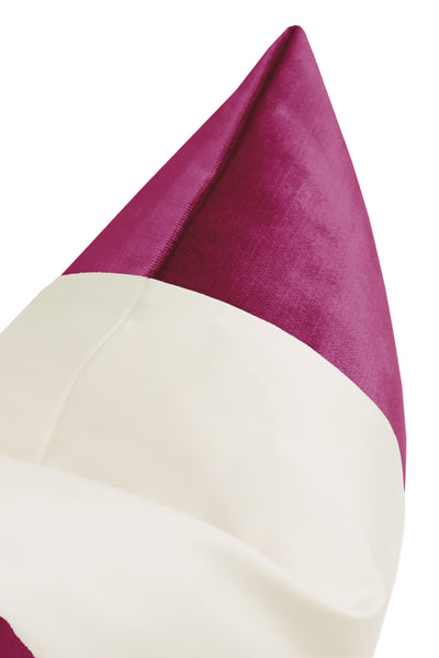 The Little Lumbar :: COLORBLOCK Faux Silk Velvet // Magenta