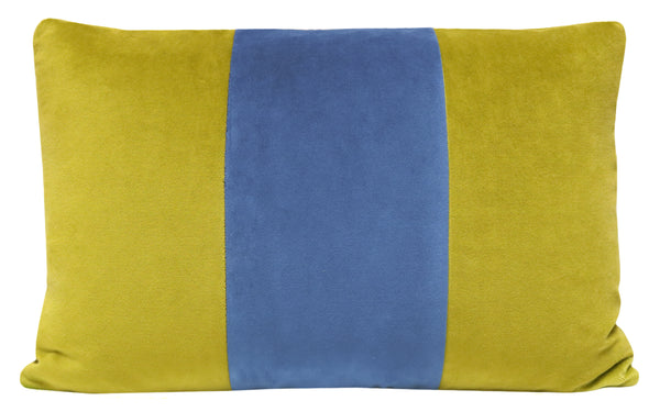The Little Lumbar :: Classic Velvet // Chartreuse + Cadet