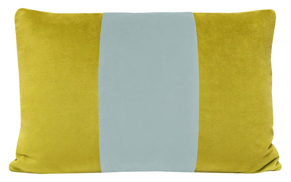 The Little Lumbar :: Classic Velvet // Chartreuse + Spa Blue