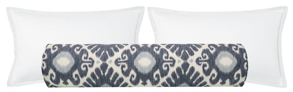 The Bolster :: East Hampton Ikat // Prussian Blue