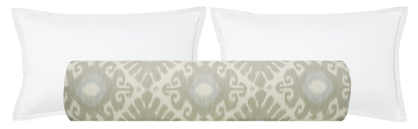 The Bolster :: East Hampton Ikat // Stone