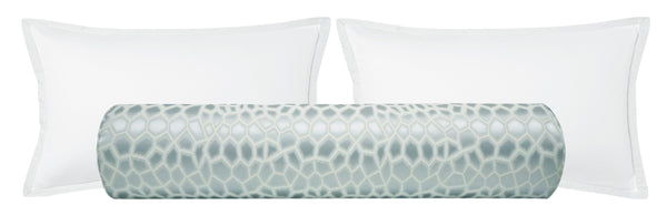 The Bolster :: Faux Silk Safari // Mist