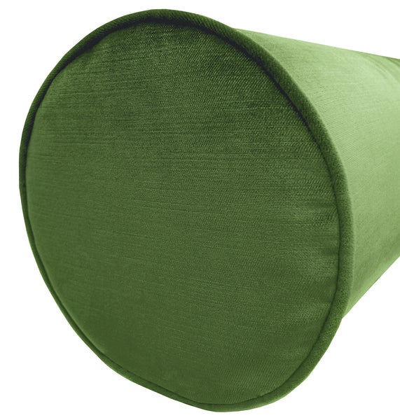 The Bolster :: Faux Silk Velvet // Malachite