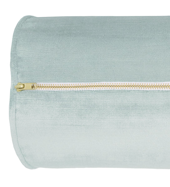 The Bolster :: Faux Silk Velvet // Spa Blue