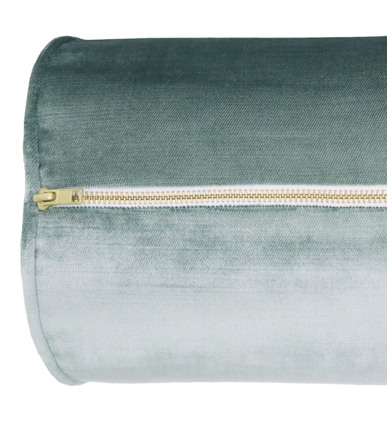 The Bolster :: Faux Silk Velvet // Turkish Blue