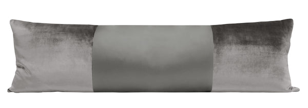 The XL Lumbar :: MONOCHROMATIC Faux Silk Velvet // Chrome