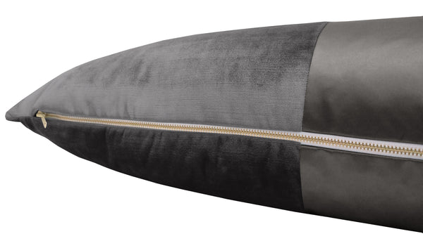 The XL Lumbar :: MONOCHROMATIC Faux Silk Velvet // Graphite