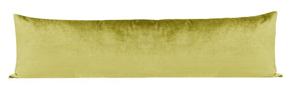 The XL Lumbar :: Faux Silk Velvet // Chartreuse BACKORDER