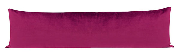 The XL Lumbar :: Faux Silk Velvet // Magenta