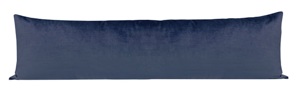 The XL Lumbar :: Faux Silk Velvet // Prussian Blue