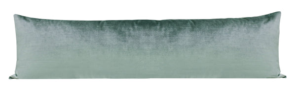 The XL Lumbar :: Faux Silk Velvet // Turkish Blue