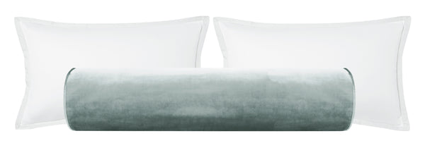 The Bolster :: Faux Silk Velvet // Cloud