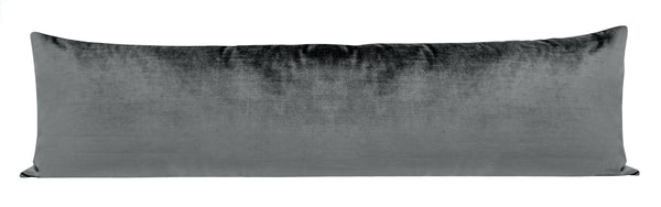 The XL Lumbar :: Faux Silk Velvet // Graphite