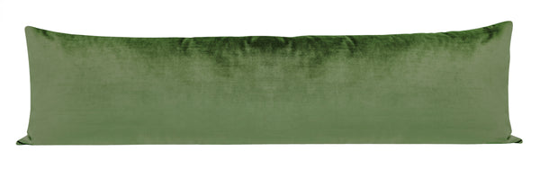 The XL Lumbar :: Faux Silk Velvet // Malachite