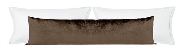 The XL Lumbar :: Faux Silk Velvet // Mocha