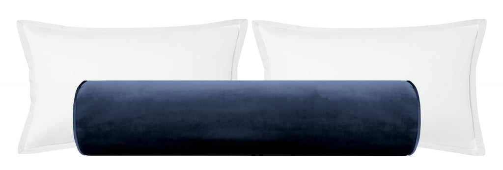 The Bolster :: Faux Silk Velvet // Navy Blue