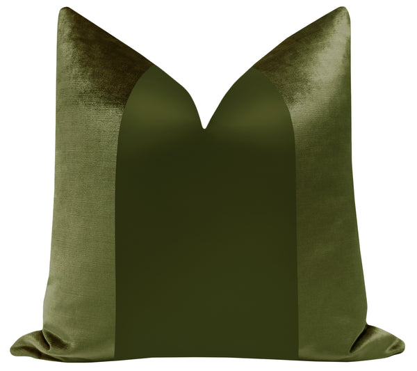 PANEL Monochromatic :: Faux Silk Velvet // Olive