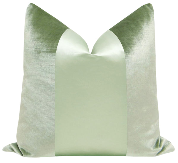PANEL Monochromatic :: Faux Silk Velvet // Pistachio